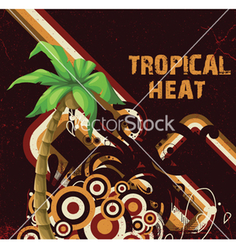 Free summer with detailed palm tree vector - vector gratuit #258983