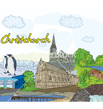 Free christchurch doodles vector - Free vector #258993
