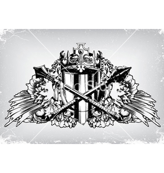 Free vintage emblem with crest vector - Kostenloses vector #259053