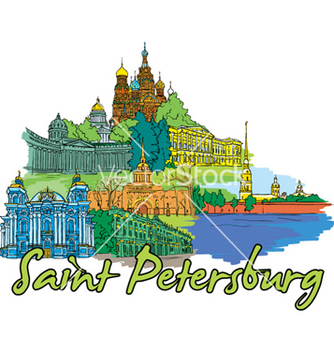 Free saint petersburg doodles vector - бесплатный vector #259193