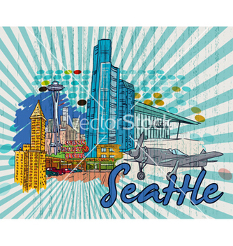 Free seattle doodles vector - бесплатный vector #259513