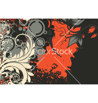 Free retro floral background vector - vector gratuit #259523
