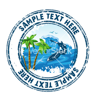 Free summer stamp vector - бесплатный vector #259593