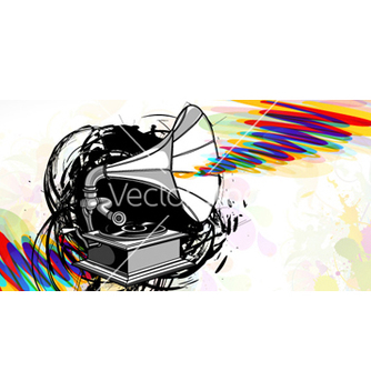 Free gramophone with grunge vector - бесплатный vector #259713