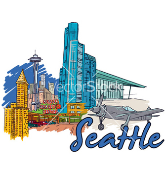 Free seattle doodles vector - Free vector #259753