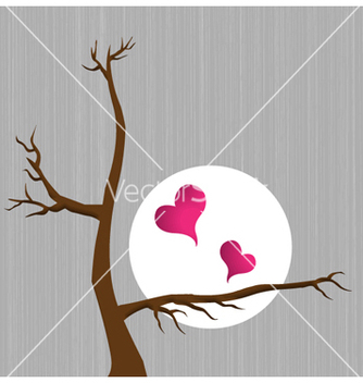 Free hearts with tree vector - Kostenloses vector #259903