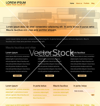 Free website template vector - Free vector #260073