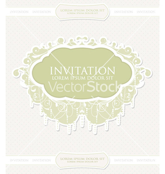 Free vintage invitation vector - бесплатный vector #260303