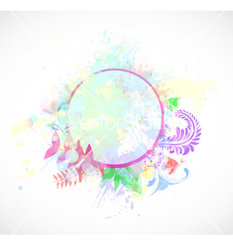 Free watercolor floral frame vector - бесплатный vector #260333