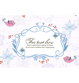 Free birds with floral vector - Kostenloses vector #260483