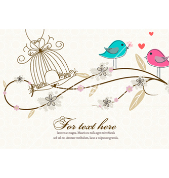Free love birds vector - бесплатный vector #260563