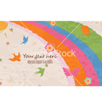 Free butterflies with rainbow vector - Kostenloses vector #260733
