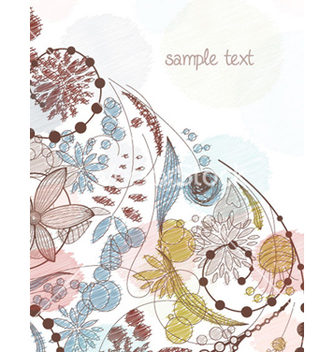 Free doodles floral background vector - Free vector #260773