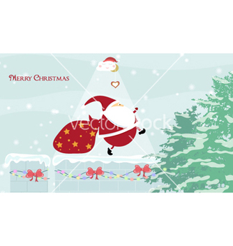 Free christmas greeting card vector - Kostenloses vector #260883
