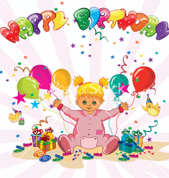 Free happy birthday vector - Kostenloses vector #260973