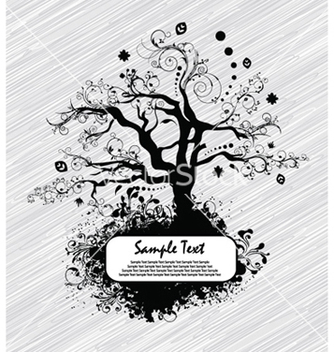 Free abstract tree with grunge vector - Free vector #260983