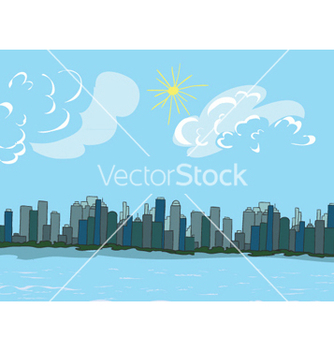 Free cartoon new york background vector - Free vector #261033