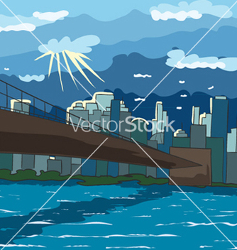 Free cartoon new york background vector - Kostenloses vector #261103