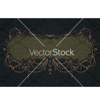 Free vintage label with damask background vector - Free vector #261123