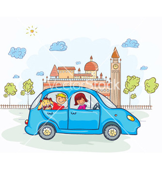 Free family going for a ride vector - vector gratuit #261303