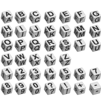 Free dice font vector - Free vector #261423