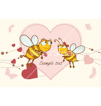 Free bees in love vector - vector gratuit #261483