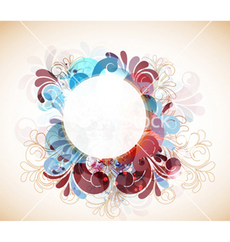 Free abstract swirls frame vector - vector #261613 gratis