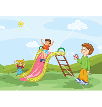 Free kids playing vector - бесплатный vector #261723