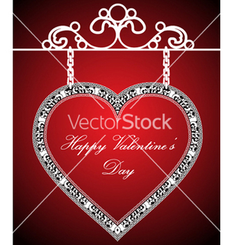 Free valentines background with heart vector - бесплатный vector #261733