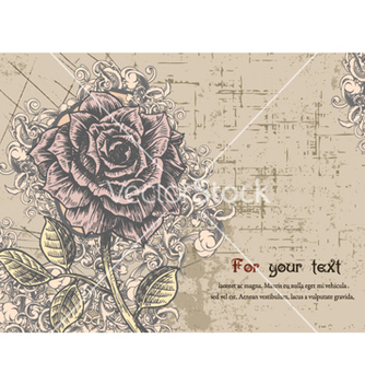 Free floral card with rose vector - Free vector #261793