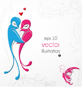 Free love birds vector - vector #261843 gratis