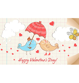 Free birds in love vector - vector #261873 gratis