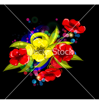 Free abstract colorful floral background vector - vector gratuit #262153