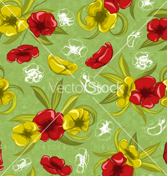 Free colorful floral pattern vector - vector #262193 gratis