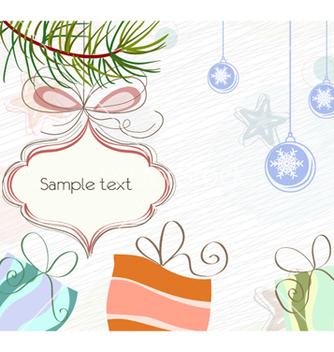 Free christmas background vector - бесплатный vector #262233
