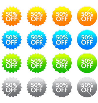Free discount labels set vector - Kostenloses vector #262283