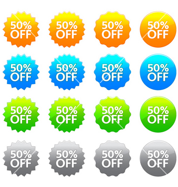 Free discount labels set vector - Free vector #262283