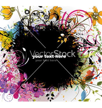 Free colorful grunge floral background vector - Kostenloses vector #262343