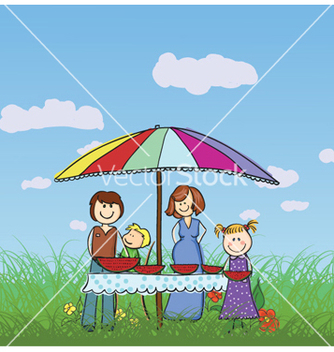 Free family in the park vector - бесплатный vector #262363