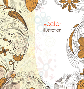 Free abstract floral background vector - Free vector #262413