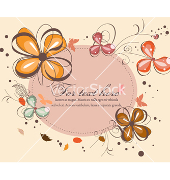 Free butterflies with floral vector - Free vector #262493