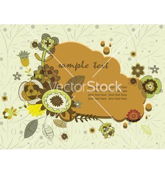 Free retro floral frame vector - Free vector #262593