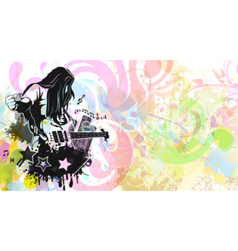 Free abstract music background vector - Free vector #262713