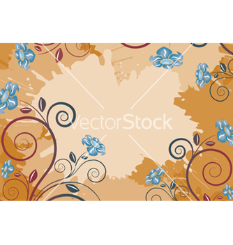 Free background with flowers vector - Kostenloses vector #262733
