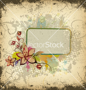 Free colorful grunge floral frame vector - Kostenloses vector #262773