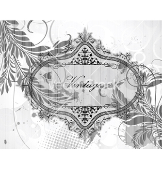 Free vintage floral background vector - Free vector #262803