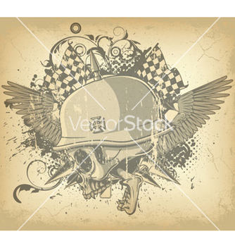 Free skull with wings vector - Free vector #262873