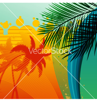 Free summer background vector - бесплатный vector #263043