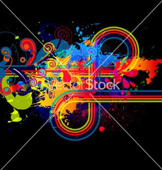 Free abstract with colorful splatter vector - Kostenloses vector #263073