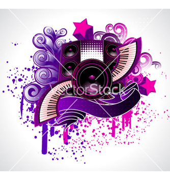 Free abstract music poster vector - Free vector #263093